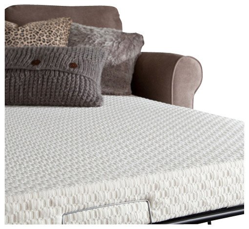 Plushbeds memory foam sofa bed mattress modern for Foam loveseat sofa bed