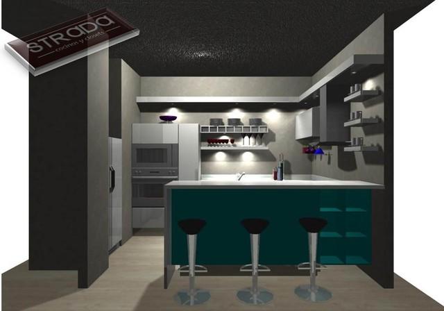 Diseños de cocinas/Kitchen Designs contemporary-rendering