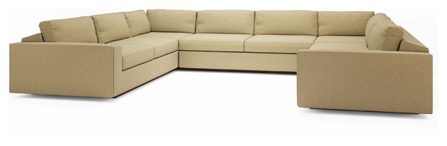 """Jackson """"U"""" shaped sectional -Red contemporary-sectional-sofas"""