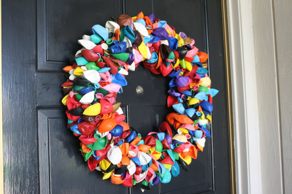 Balloon Wreath By Dahoney Designs eclectic holiday outdoor decorations