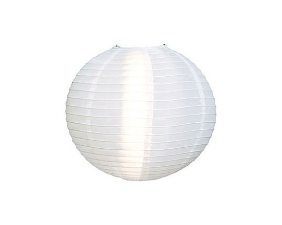White 24-Inch Outdoor Nylon Lantern -