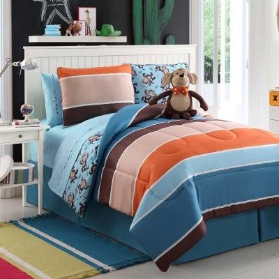 Victoria Classics Monkey Reversible Comforter Set modern-duvet-covers-and-duvet-sets