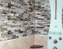 Sumi-e Glass Shower modern bathroom tile