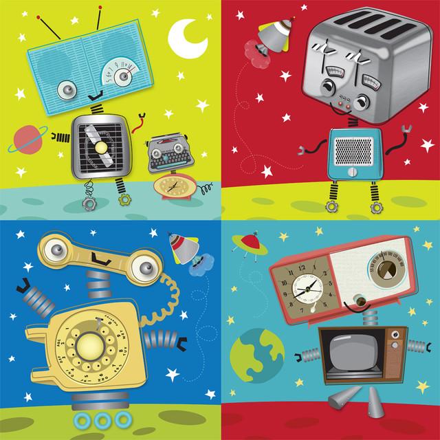 Retro Robot Wallpaper | www.imgkid.com - The Image Kid Has It!