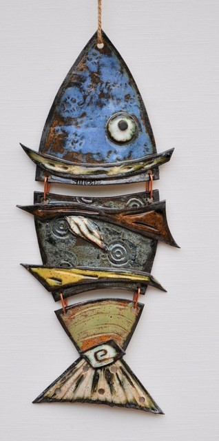 Funky Garden Wall Lights : Funky Fish - Eclectic - Home Decor - other metro - by Framing Wholesalers Inc