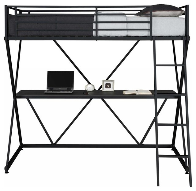 Metal Loft Bed contemporary-kids-beds