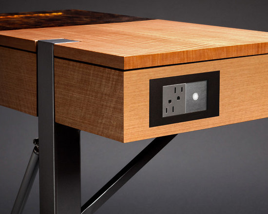 Amber Glow Side Table - As an added touch, electrical outlets are also designed into the piece for personal electronic devices. Stewart Tilger Photography