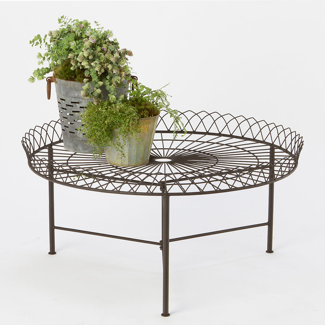 wrought iron coffee table contemporary outdoor coffee tables by terrain. Black Bedroom Furniture Sets. Home Design Ideas