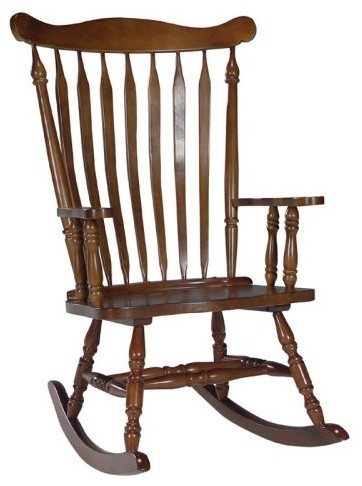 International Concepts Colonial Rocking Chair - Cottage Oak modern-rocking-chairs
