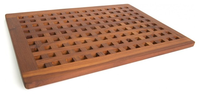 Teak Bath & Shower Mat - From the Grate Collection contemporary-bath-mats