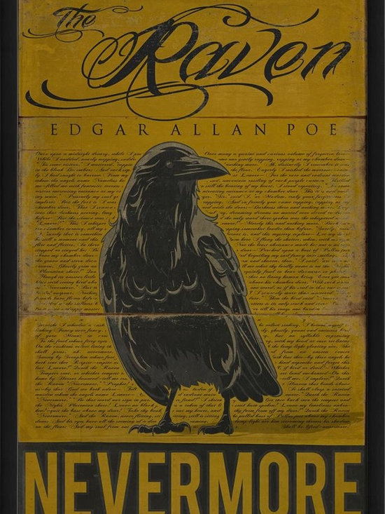 The Artwork Factory - The Raven Framed Artwork - Ready-to-Hang, 100% Made in the USA, museum quality framed artwork