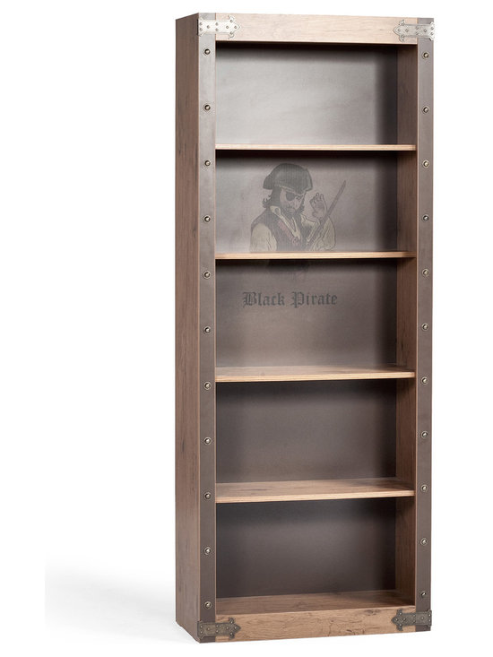 "Cilek - Navigation Bookcase - Store you Treasure Maps, Knowledge, Captain's Diaries and preserve your legacy as a pirate aboard the ""Black Pirate"" ship. Made from the sturdiest wood to harbor your most valuable treasures in this spacious Navigation Bookcase."