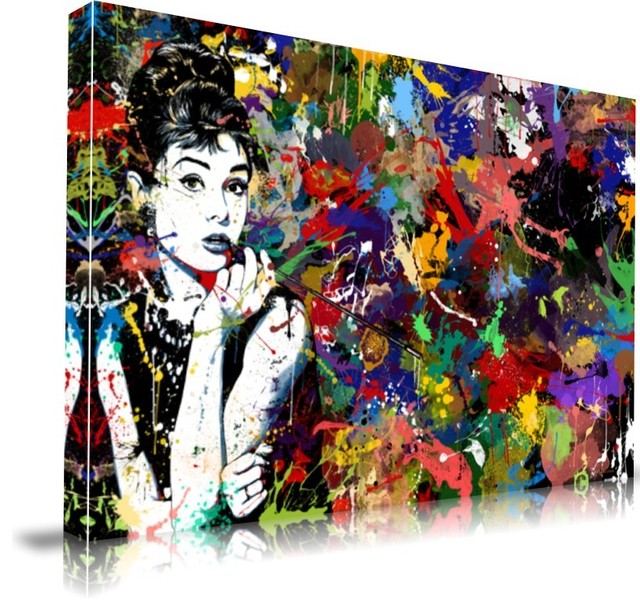 """Audrey Hepburn' Print by Maxwell Dickson, 16"""" x 20"""" eclectic-prints-and-posters"""