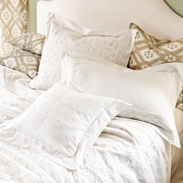 Eyelet Pillow with Insert traditional-decorative-pillows