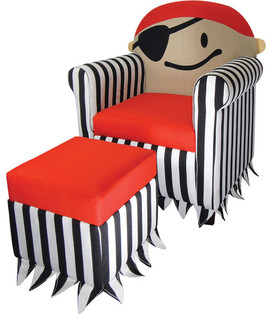 Jakie Kids Pirate Chair And Ottoman Set Eclectic Kids