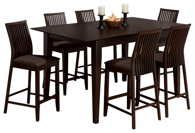 jofran ryder 7 piece rectangle butterfly leaf counter dining room set