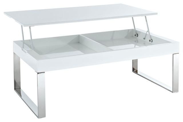 Reaction White Gloss Action Coffee Table - Modern - Coffee Tables - by LexMod