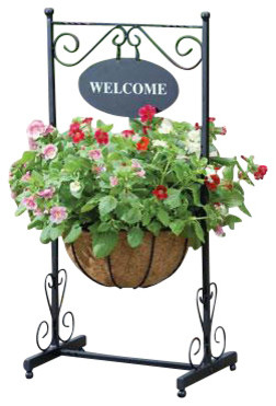 Blacksmith Welcome Planter farmhouse-outdoor-pots-and-planters
