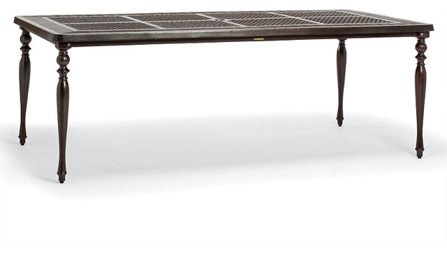 British Colonial Rectangular Outdoor Dining Table, Patio Furniture ...