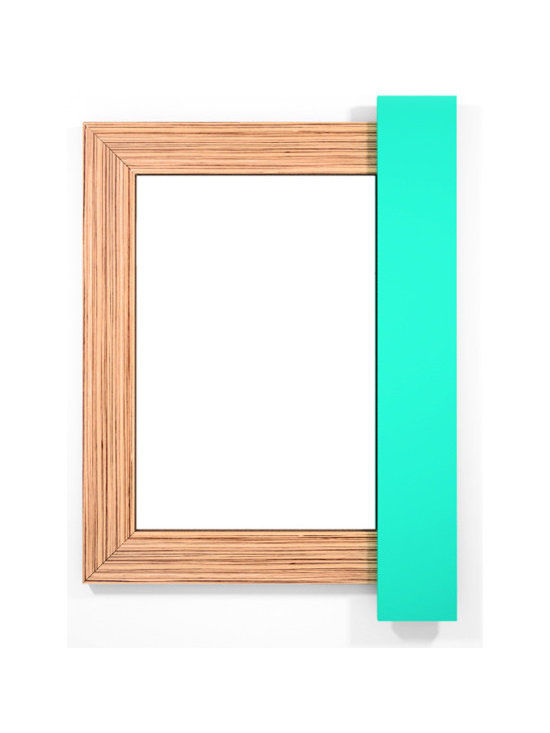 Mango Zebrawood-Aqua Marine - If it is truly said that eyes are the reflection of our soul, wall mirrors are the reflection of our home. Why settle with dull frames that won´t share anything with us?