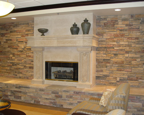 Fireplace surrounds and mantels -