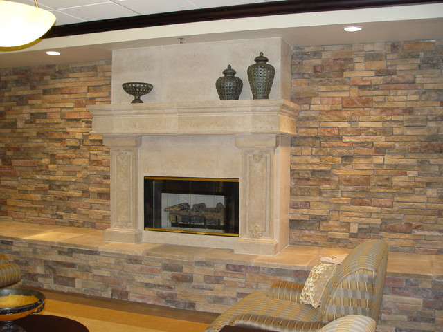 Fireplace surrounds and mantels traditional-indoor-fireplaces