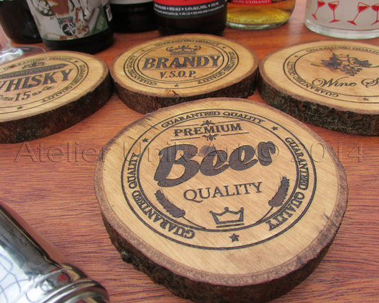 kitchen items - Salvaged Coasters set by Atelier unik-Art