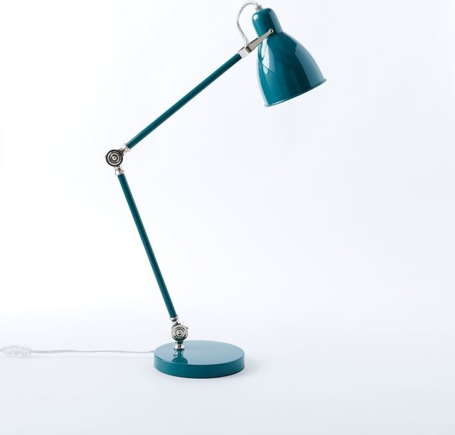 Industrial Task Table Lamp Teal Contemporary Table Lamps By West Elm