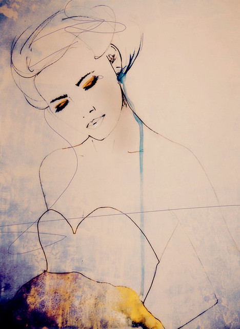 Abstractions Aside Fashion Illustration Art Print by Leigh Viner contemporary-artwork
