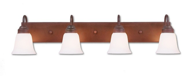Rustic wasatch quad bath vanity light eclectic Rustic bathroom vanity light fixtures