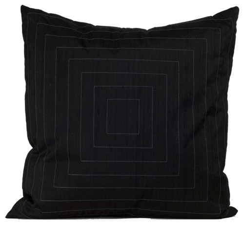 Black Throw Pillows For Bed : Pyramide Decorative Pillow in Black - Modern - Bed Pillows - by AllModern