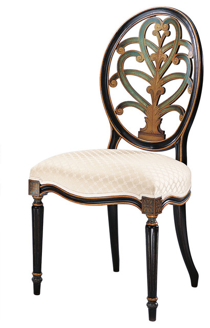 Hand Painted English Style Side Chair Traditional