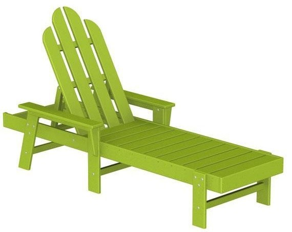 Polywood adirondack chaise lounge lime traditional for Chaise adirondak