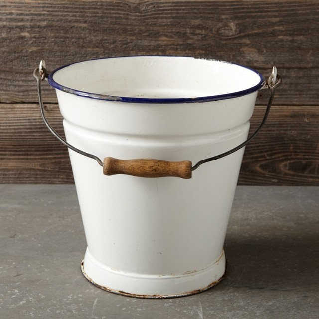 Found Enamel Pail Modern Outdoor Products By