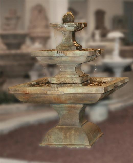 Contemporary Backyard Fountains : Outdoor Garden Water Features  Contemporary  Outdoor Fountains And