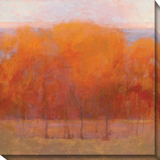 Change of Seasons III Canvas Wall Art, Orange contemporary artwork
