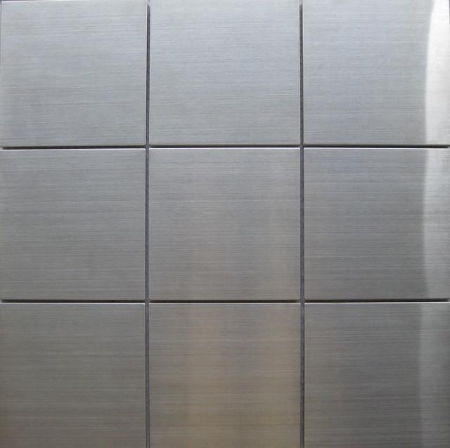 Stainless Steel Tiles Mediterranean Tile Other Metro