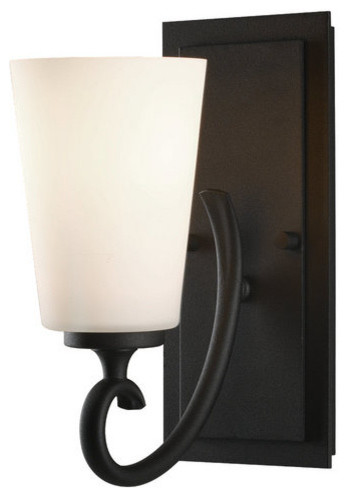 Bathroom Wall Sconces Black : Murray Feiss VS16501-BK Black Peyton Peyton 1 Light Bathroom Sconce - Contemporary - Wall ...