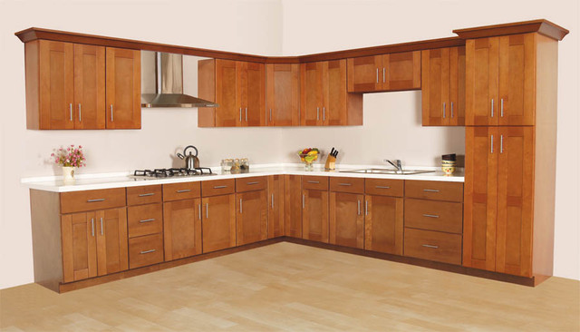 New England Shaker RTA Cabinets - by Custom Service Hardware, Inc