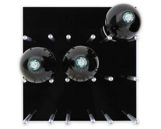 Vin de Garde Modern Wine Cellars Inc. - Wall Mounted Wine Rack | Vin de Garde XY Series, Black - This stunning modular wall mounted wine rack allows you to customize your wine wall in anyway that you can imagine! The Vin de Garde XY 3X3 Kit holds up to 9 bottles of wine, and is backed by an ultra sleek-looking high gloss acrylic panel. With this system, you can mix and match the panels to create the perfect pattern and look for your home. What are you waiting for? Start building the wine collection of your dreams today.