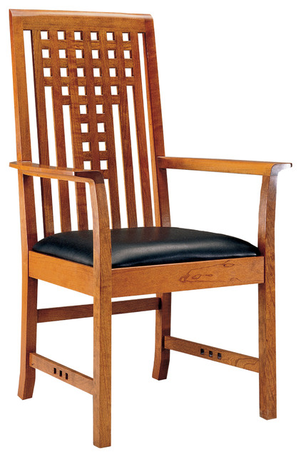 Stickley Lattice Arm Chair 91 2041 A