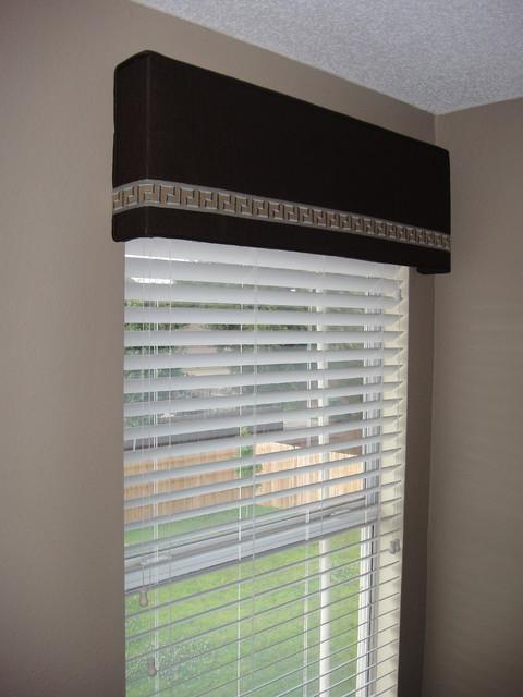 Cornice Board With Trim Modern Window Treatments
