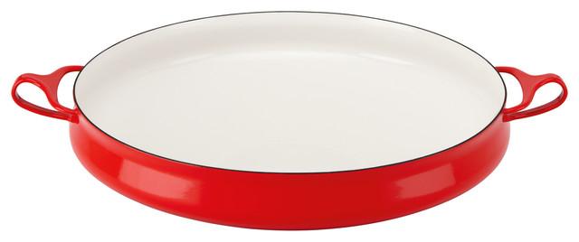 Dansk Kobenstyle Round Baker Chili Red traditional-bakeware