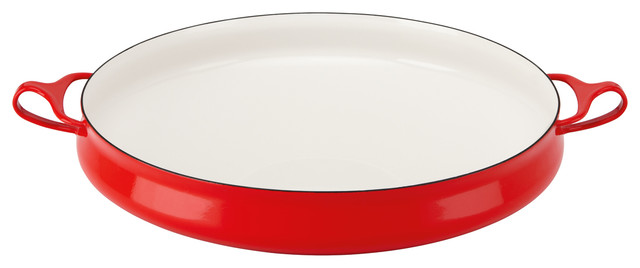 Dansk Kobenstyle Round Baker Chili Red traditional-baking-dishes