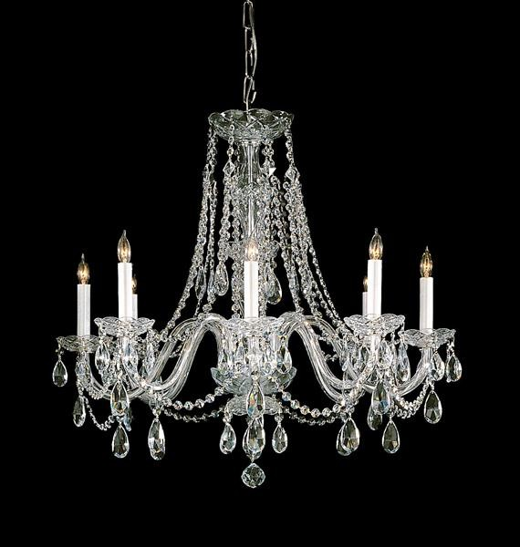 Hand Polished Crystal Chandelier modern-chandeliers