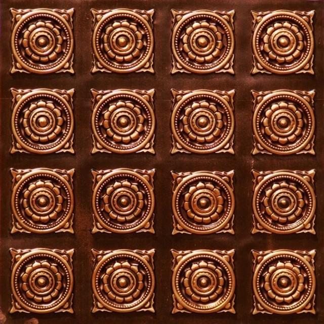 128 Faux Tin Ceiling Tile Glue Up 24x24