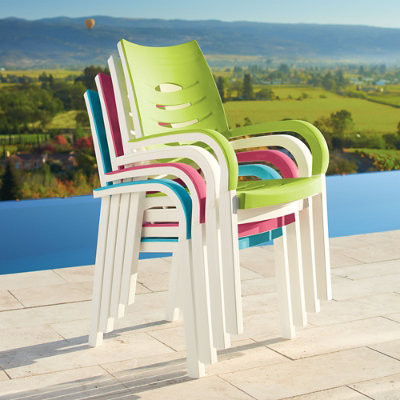 Myrtle Beach Stacking Chair Grandin Road Traditional Outdoor Lounge Chairs By Grandin Road
