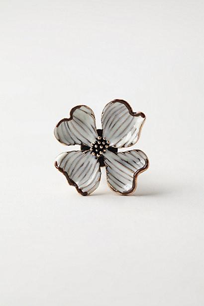 Tilla-Flora Knob, White eclectic-knobs