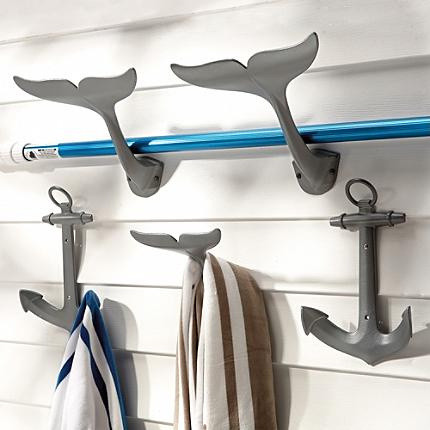 Anchor Hooks eclectic towel bars and hooks