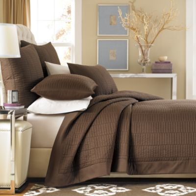 Real Simple Dune Coverlet in Chocolate contemporary-quilts-and-quilt-sets